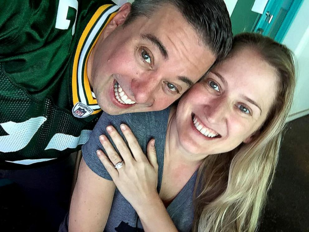 PHOTO: Green Bay super fan Ryan Holtan-Murphy plans to take his fiancees last name, Packer, when they wed in June.