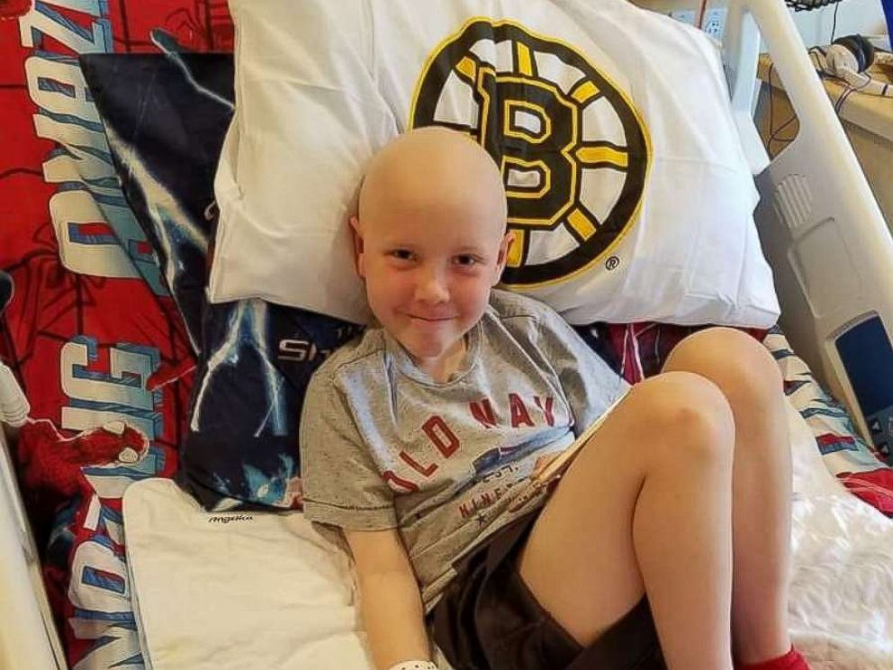 PHOTO: Brodie Rawson, 9, is seen during his treatment for Burkitt lymphoma in this undated family photo.