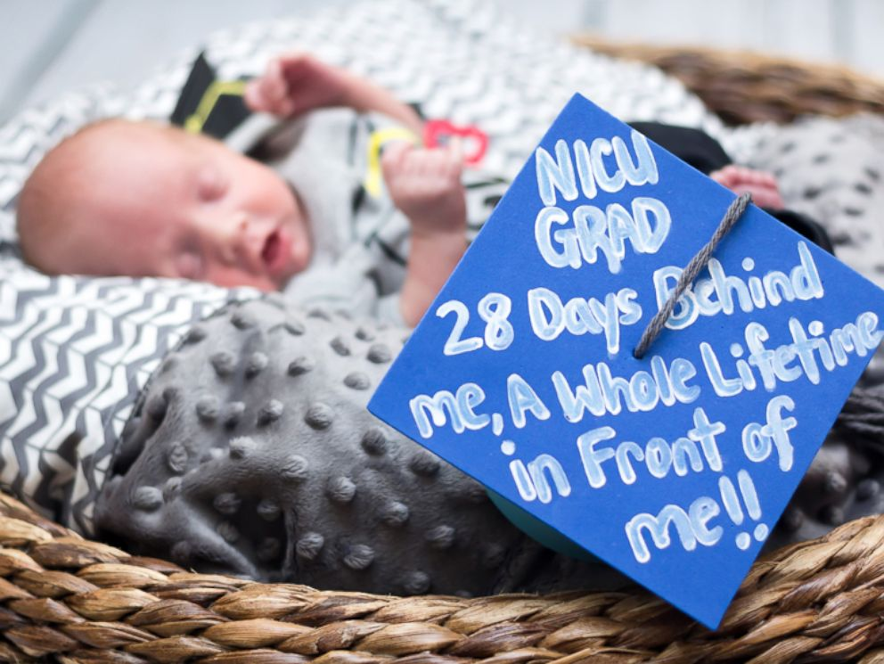 PHOTO: Baby Sutton is celebrated the day he left the neonatal intensive care unit at CaroMont Health in Gastonia, North Carolina, with a special a photo shoot.