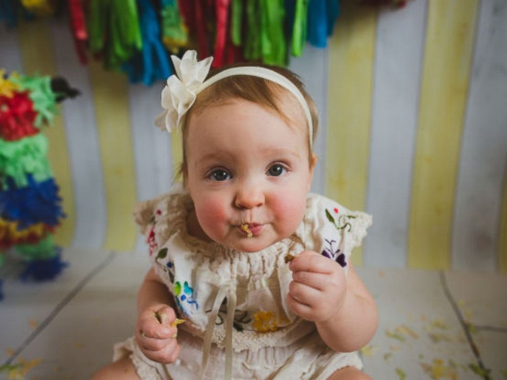 PHOTO: Stella Ogden had a taco smash at her first birthday party. The photos have since gone viral.
