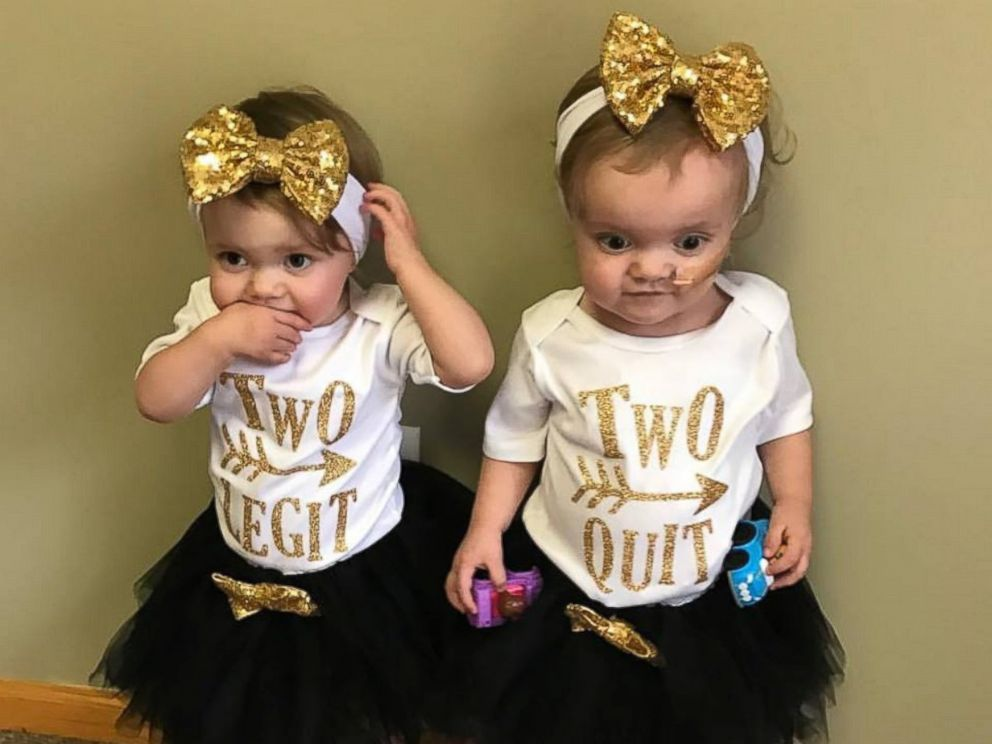 PHOTO: Twins Kenedi and Kendal Breyfogle were both diagnosed with leukemia August 17, 2015. Kenedi is currently in remission.