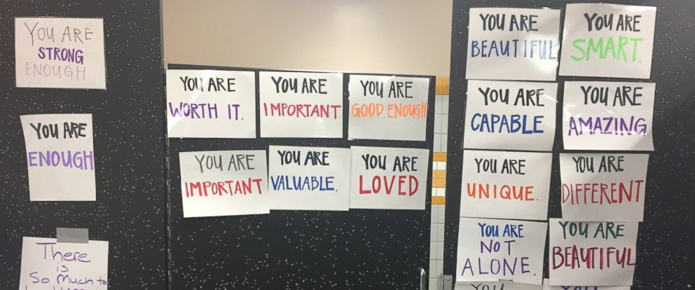 high school bathroom door. PHOTO: One California High School Posted Bathroom Doors With Signs Of Affirmation. Door