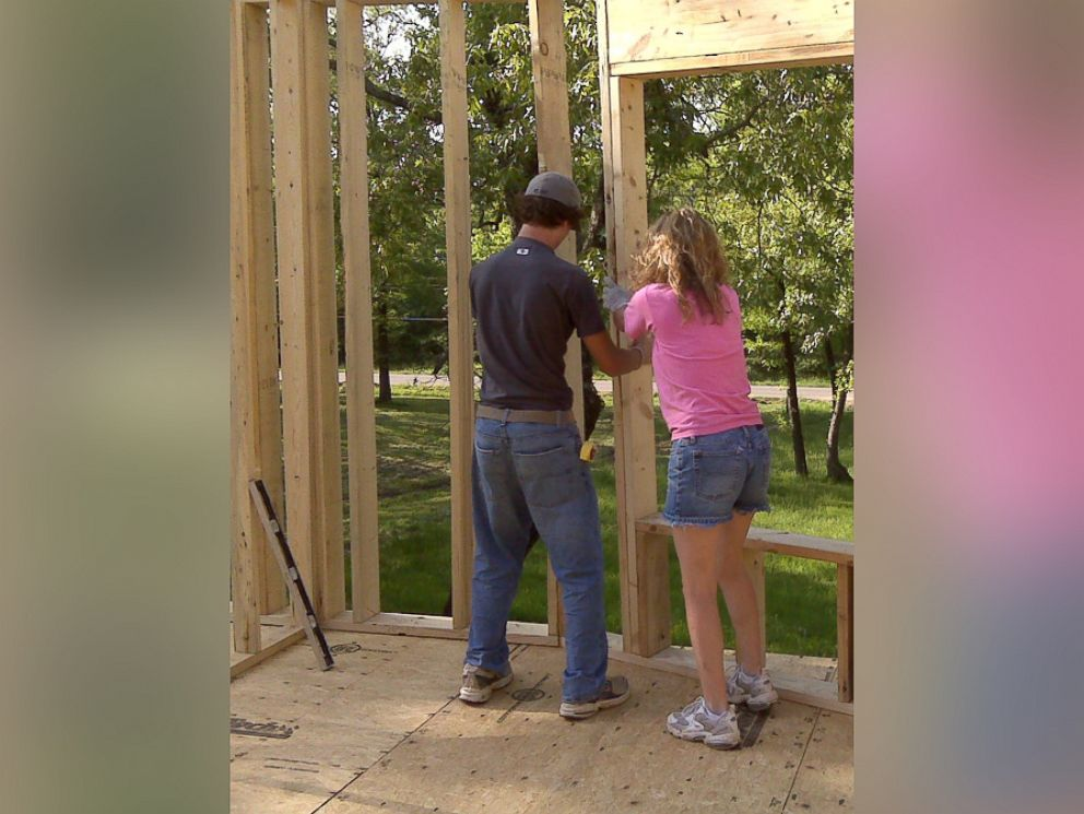 PHOTO: Mother of four Cara Brookins writes in her upcoming memoir Rise how she built her dream home with the help of YouTube videos.
