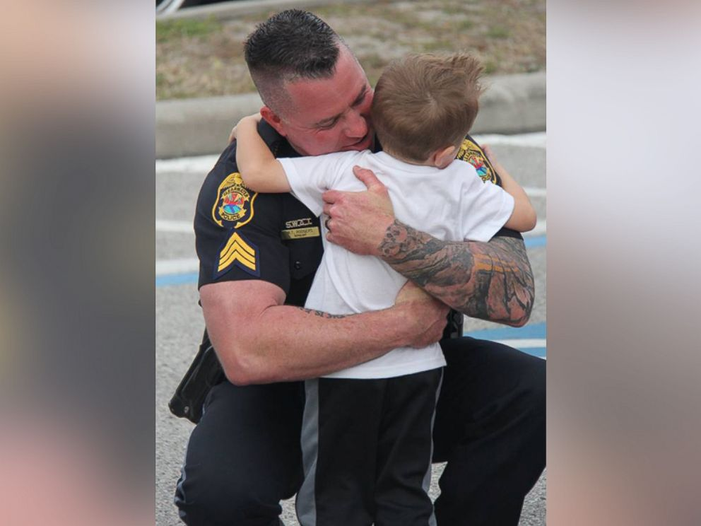 Florida Officers Surprise Pint-Size Fan at Police-Themed