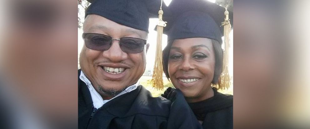 PHOTO: Renate and Charles L. Cole graduated Dec. 3 from Sacramento Theological Seminary. Their son, Charles, shared their now viral selfie on Twitter.