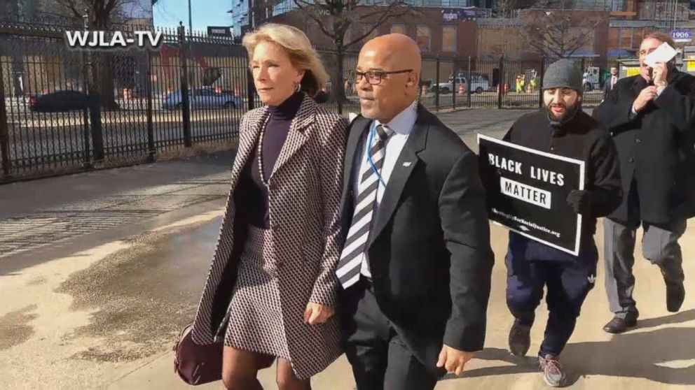 If Confirmed Betsy Devos Will Be >> Education Secretary Betsy Devos Blocked By Protesters From Entering