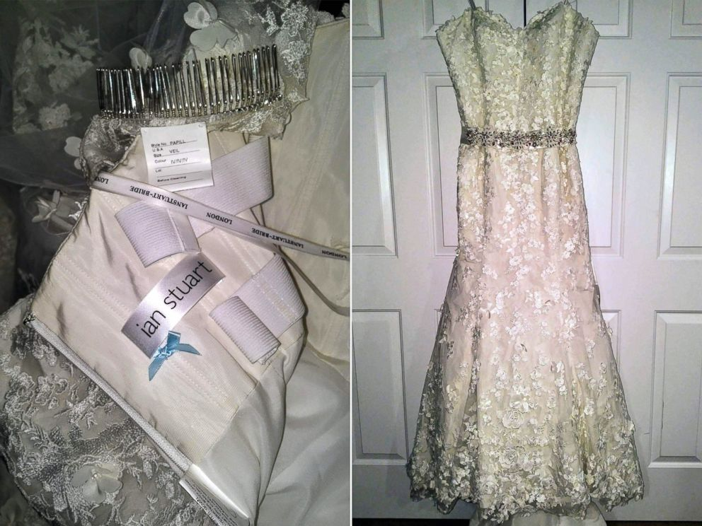 01f937276b3 PHOTO  Aly Porter donated an Ian Stuart wedding dress and accessories to  bride-to
