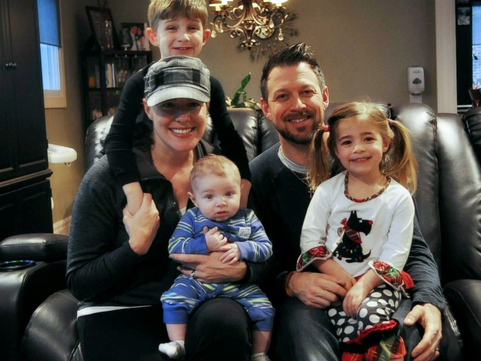 PHOTO: Lucy Eliopulos, 37, who is battling brain cancer, is seen in this undated photo with her husband Zack, and their children, Benjamin, 5, Julianna, 3 and George, 5 months.