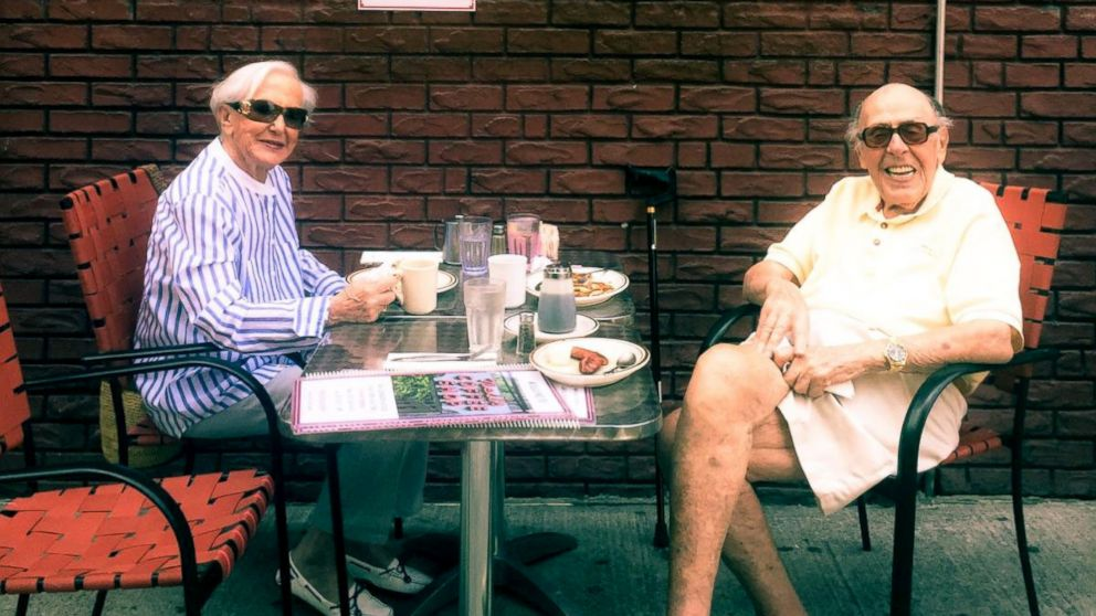 Paul Rothman and Gerry Rosen enjoy lunch in New York City.