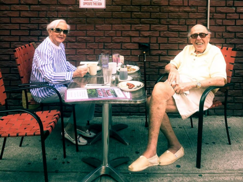 PHOTO: Paul Rothman and Gerry Rosen enjoy lunch in New York City.