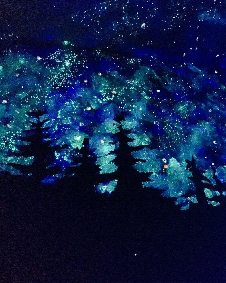 Oregon Woman Creates Glow In The Dark Mural To Help Friend S Son