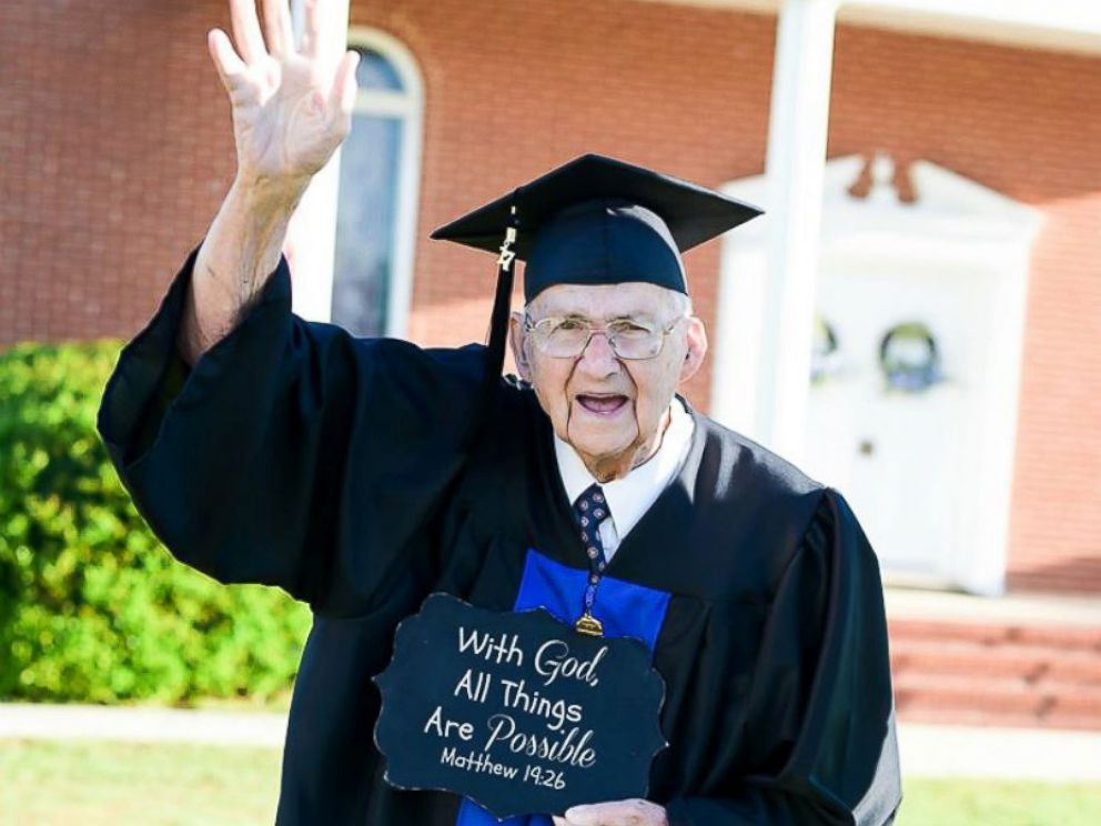 PHOTO: Horace Sheffield of Barnesville, Georgia, graduated from Shorter University with his Bachelor of Science in Christian studies.
