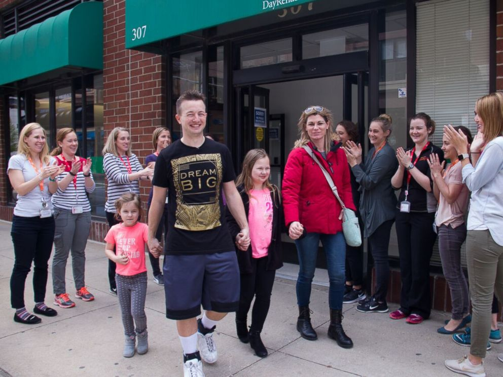 PHOTO: Cole Thomas of Rochelle, Illinois, walked out of rehab seven months after a car wreck left him paralyzed.