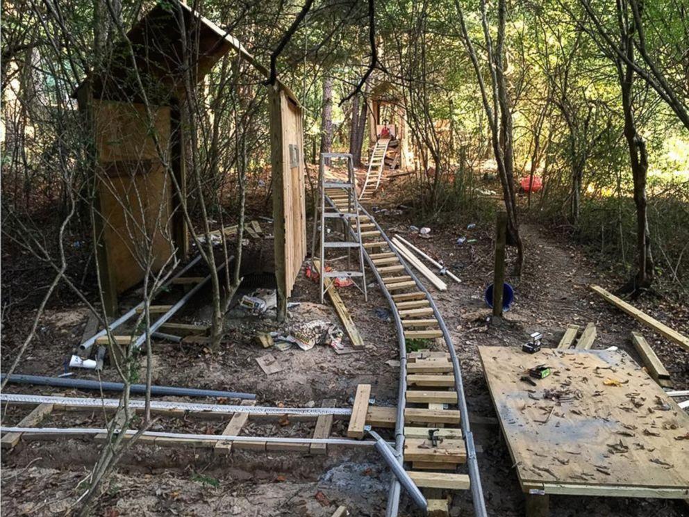 PHOTO: Jackson Crosskno, 19, of Canton, Ga., built an elaborate backyard roller coaster called the White Mountain Railroad.