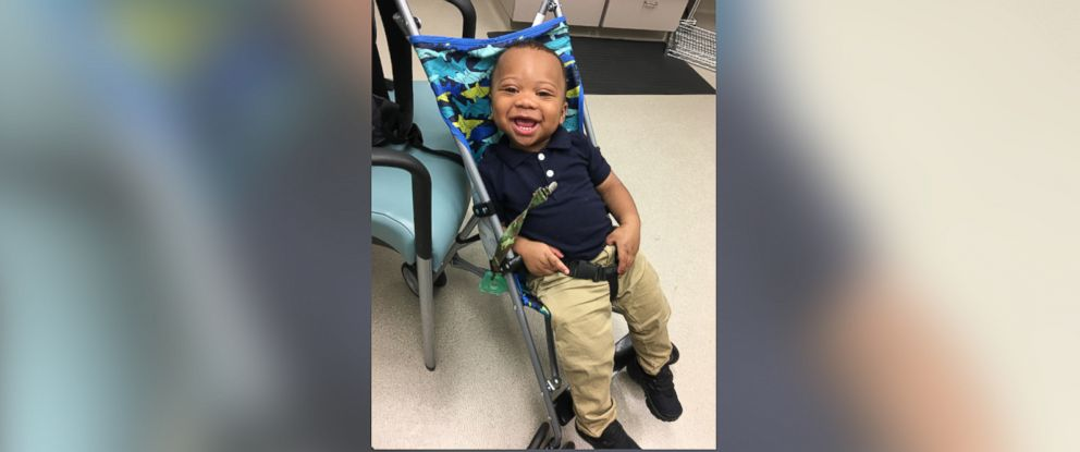 PHOTO: Josiah Washington, a 1-year-old born with a rare genetic disorder, went viral for walking out of his stroller in a hilarious Facebook video.