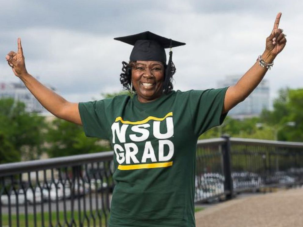 PHOTO: Karen Hunter is graduating from Norfolk State University on May 6, 2017 after dropping out of school in 1987 to care for her oldest daughter.