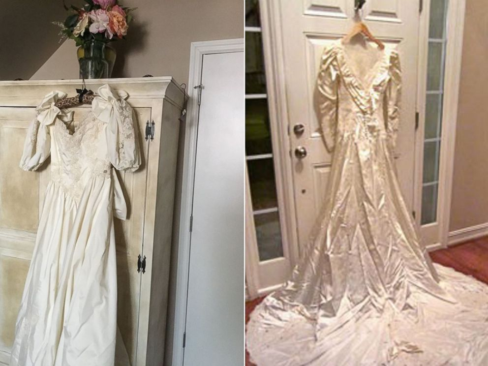 2 Strangers To Swap Wedding Dresses 30 Years After Mix Up Abc News