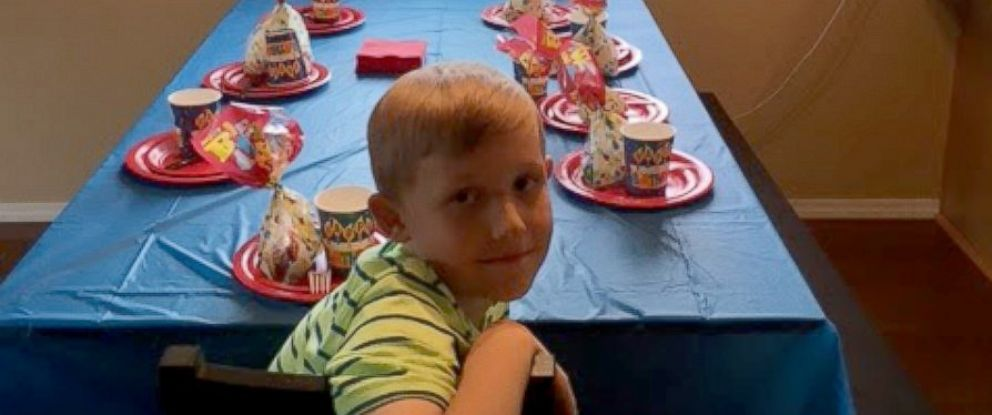 little boy left alone at birthday party after nobody shows