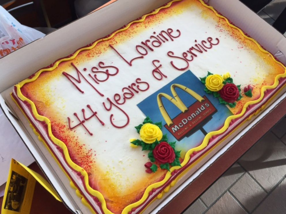 PHOTO: Loraine Maurer was feted by her McDonalds of Evansville, Ind., co-workers for working at the restaurant for 44 years.