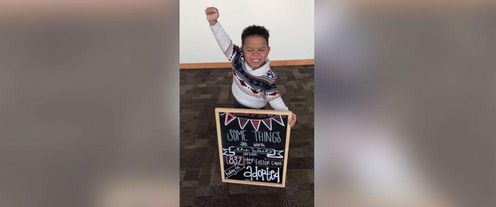 PHOTO: Three-year-old Michael Browns adoption photo exudes joy.