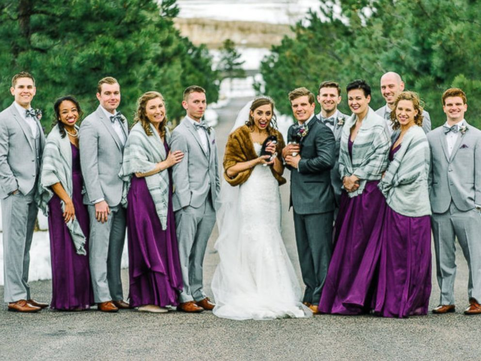 PHOTO: Veterinarians Michele Bangsboll Anderson and Nick Anderson invited rescue kittens to their Colorado wedding.
