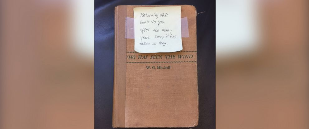 "PHOTO: The book ""Who Has Seen The Wind"" by W.O. Mitchell was due back to Noah Webster Library in West Hartford, Conn., on Sept. 29, 1965."