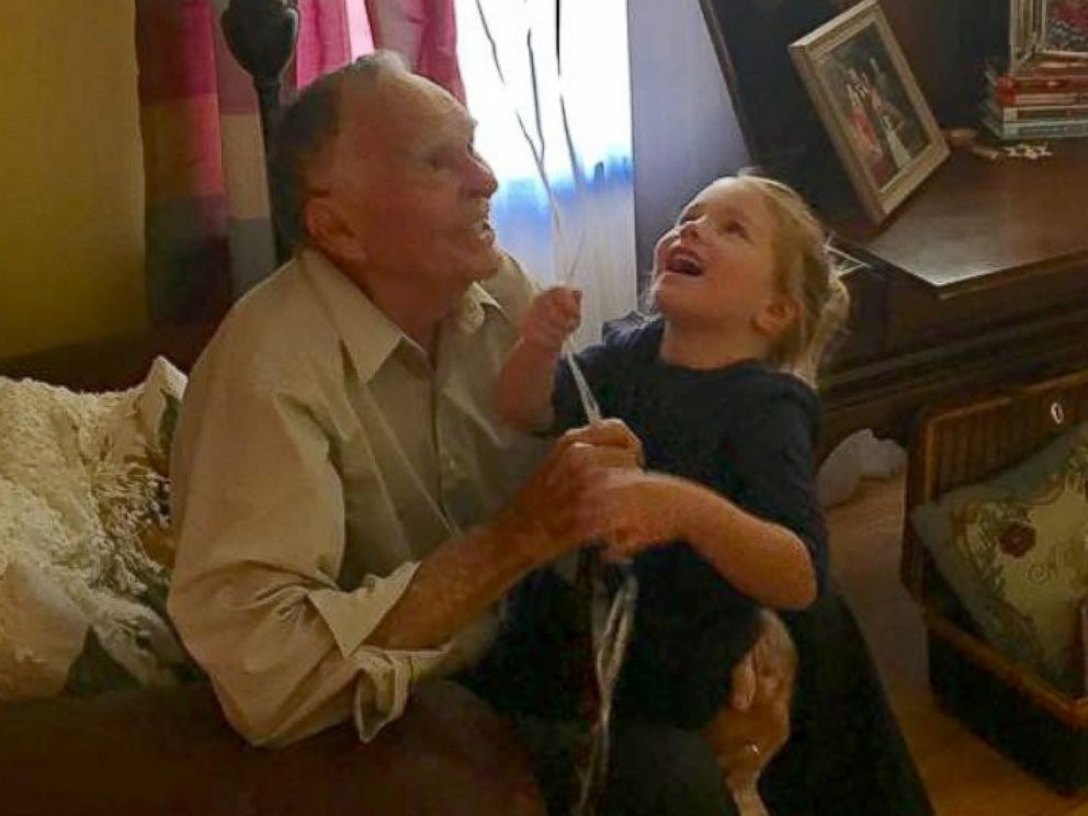 PHOTO: Norah visited Peterson to celebrate his 82nd birthday.
