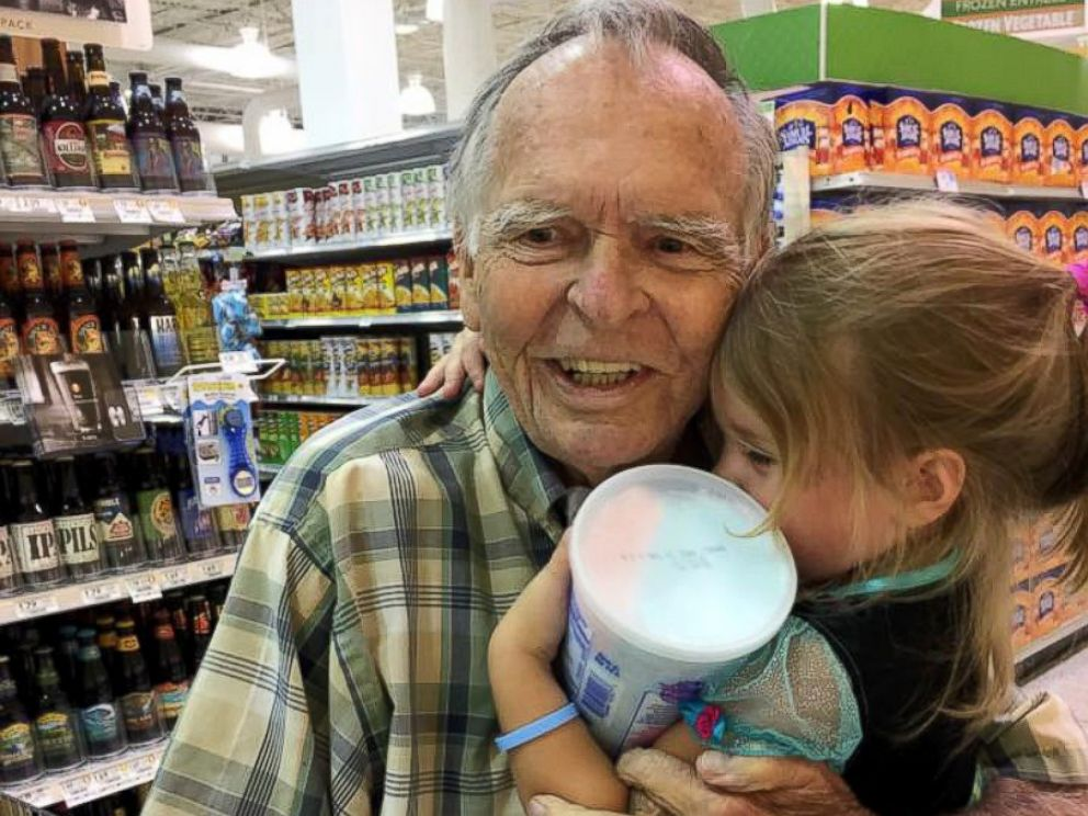 PHOTO: Dan Peterson and Norah Wood met at a grocery store.