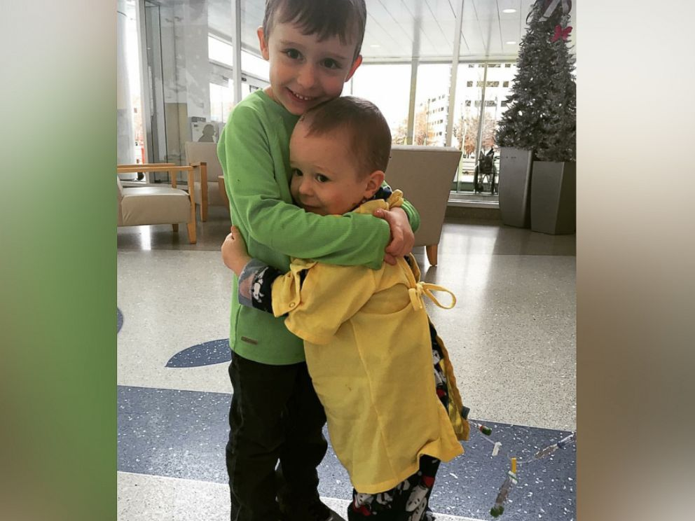 PHOTO: Logan Kinzel seen in an undated photo with his older brother, Rowan Kinzel, 4.