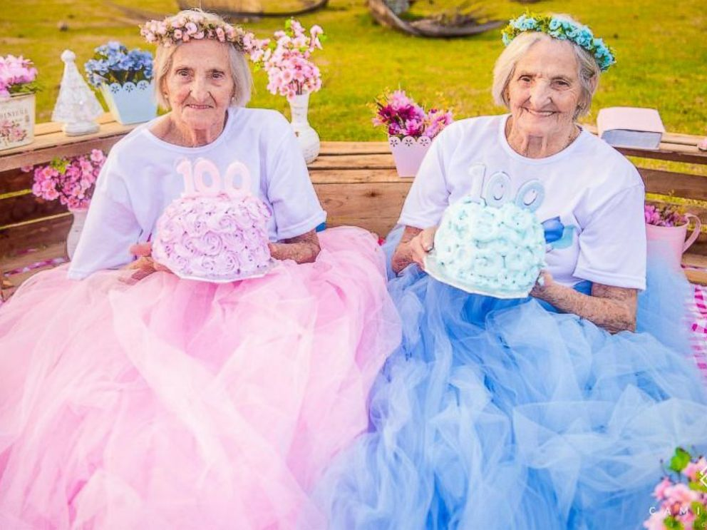 Twin sisters celebrate their 100th birthday with whimsical