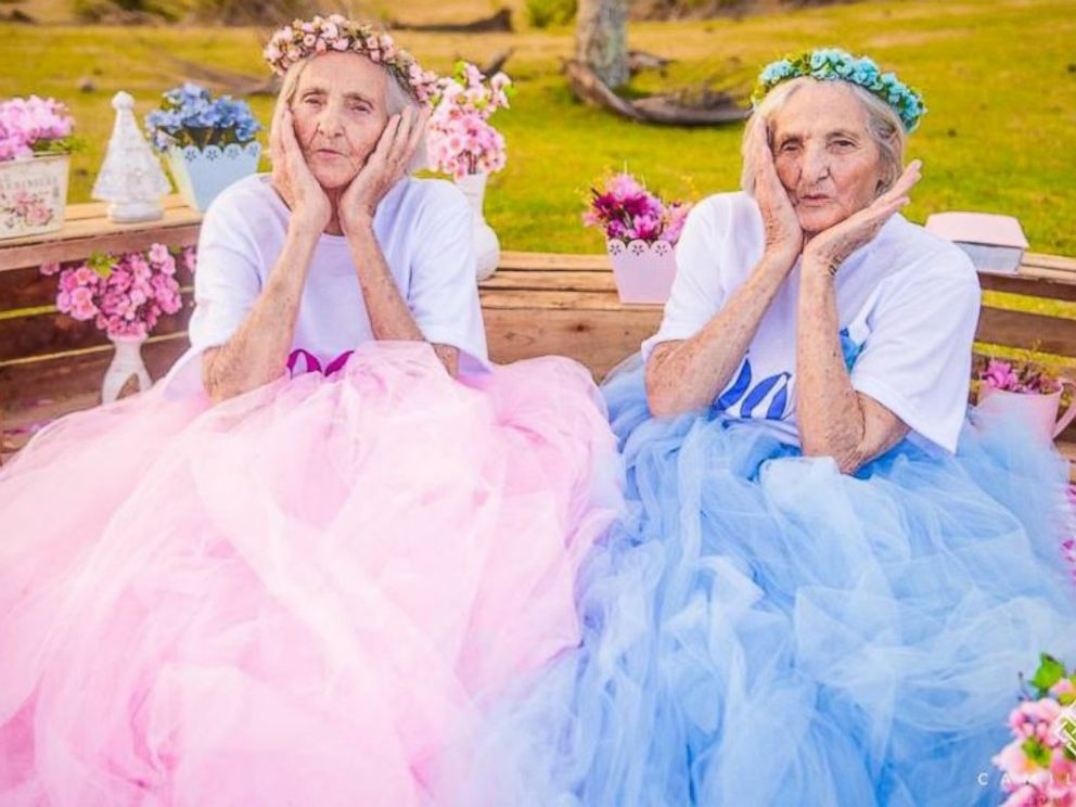 twin sisters celebrate their 100th birthday with whimsical photo shoot in brazil abc news. Black Bedroom Furniture Sets. Home Design Ideas