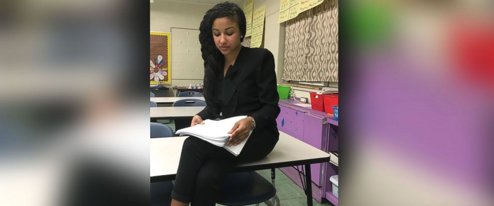 PHOTO: In Valencia Clays eighth grade classroom, one student Janiyah was moved to tears after receiving tons of positive comments from her fellow students.