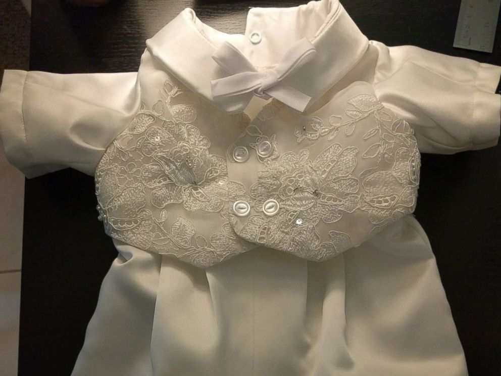 Woman turns friend\'s wedding gown into baby\'s baptism outfit - ABC News