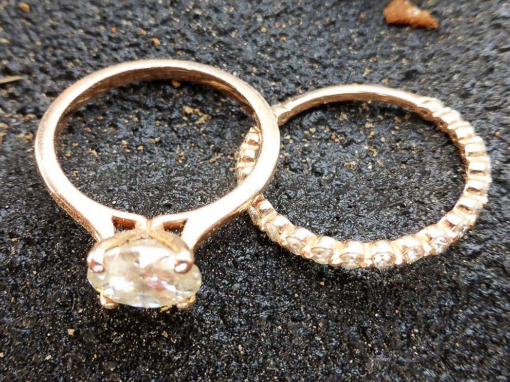 PHOTO: Hobby metal detector Nathan Wright found Ariel Dukes wedding rings among the debris after a tornado destroyed her Canton, Texas, home.
