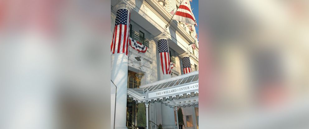 PHOTO: The exterior of the Willard Hotel in Washington, D.C. is shown decorated for an inauguration in this undated photo.