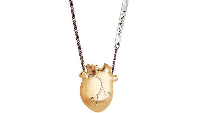 PHOTO: Big Gold Anatomic Heart Necklace