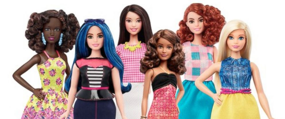 PHOTO: Mattel debuts three new Barbie dolls, including Curvy, Tall, and Petite in a press release dated Jan. 28, 2016.
