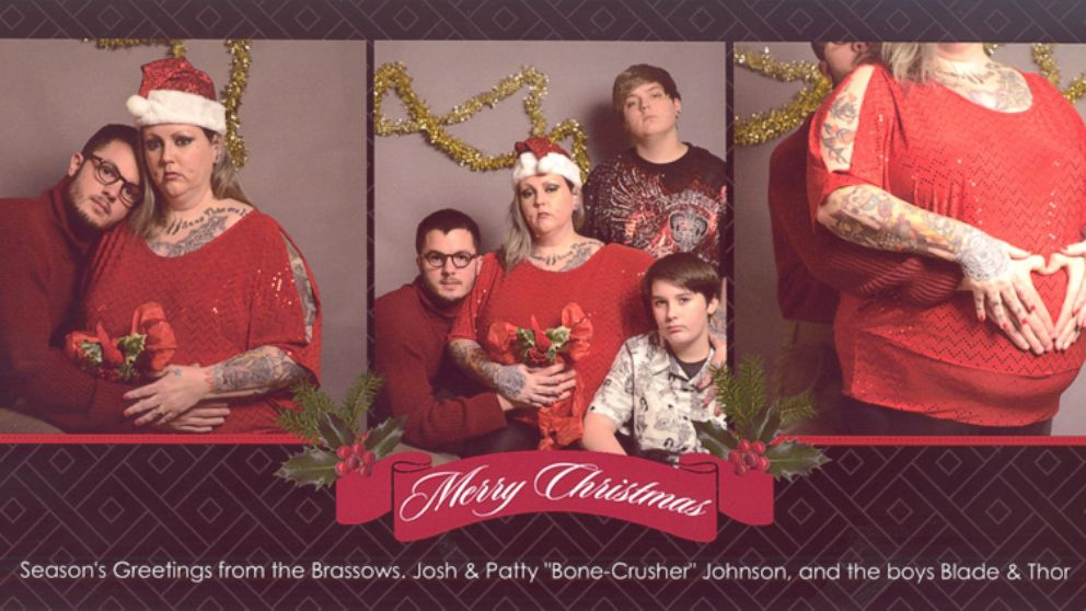 michigan college student hires fake family for christmas card abc news - Family Photo Christmas Cards