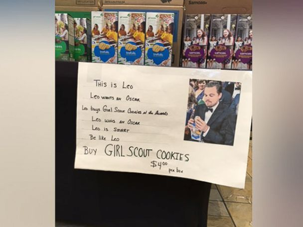 PHOTO: One troop from the Girl Scouts of Suffolk County came up with a creative marketing strategy to sell more cookies.