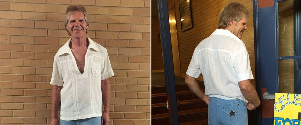 PHOTO: Roger Hepworth, 58, of Ogden, Utah, wore an outfit from high school to his 40th high school reunion.