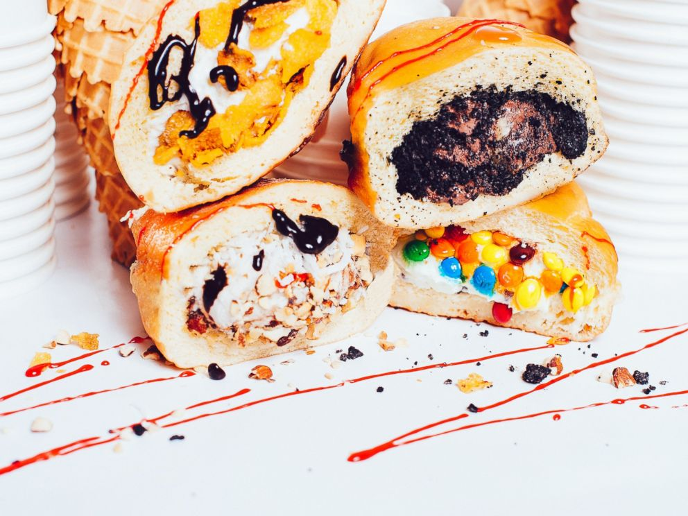 PHOTO: Afters Ice Cream in Los Angeles makes ice cream sandwiches in warm donuts.