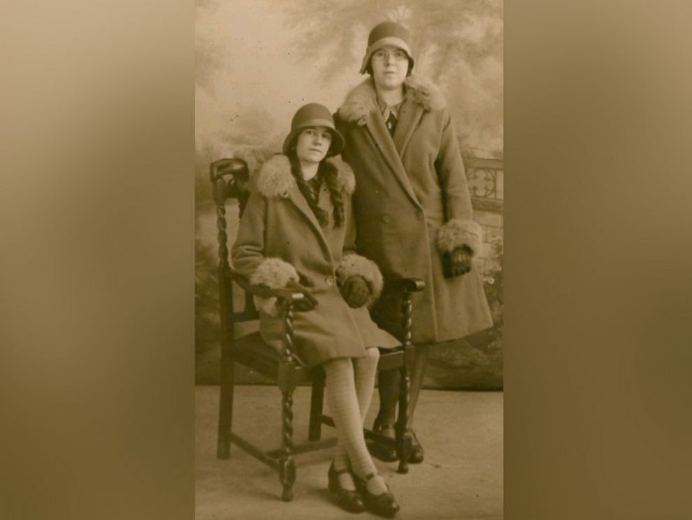 PHOTO: A younger Ivena Ivy Smailes, of Canada, (standing) with her sister Elizabeth.
