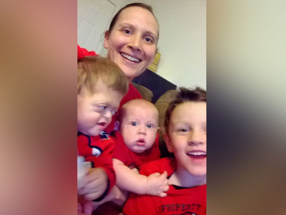 PHOTO: Meyer photographed with her sons Jameson, Jackson, 7, and Jasper, 2.