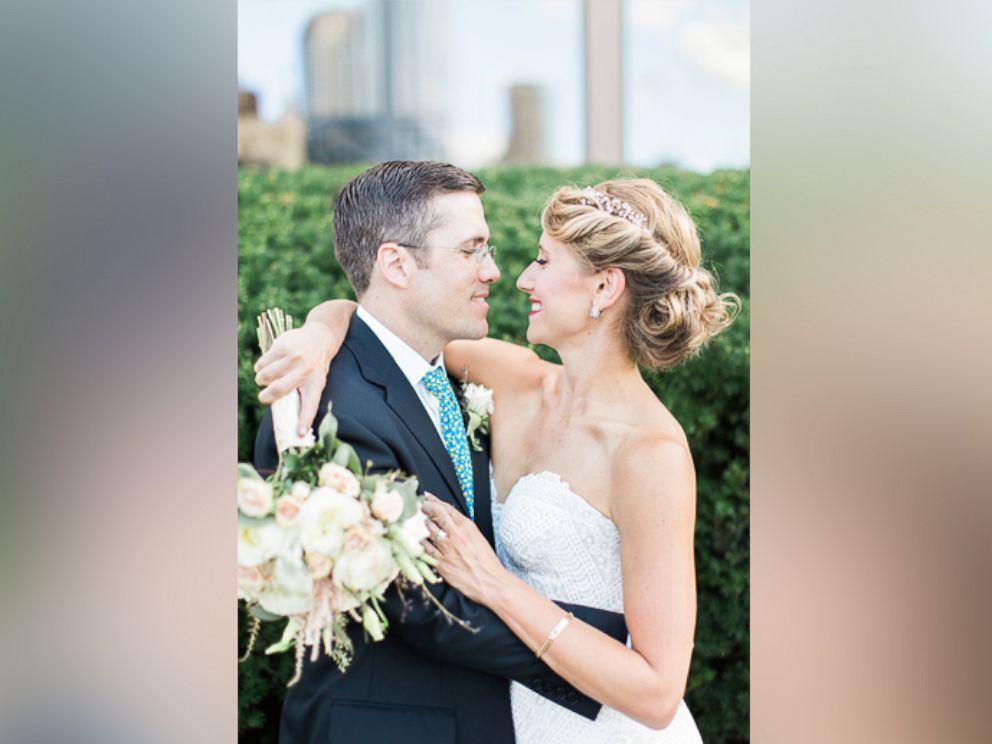 PHOTO: Jeni and Paul Maenner married on August 6 in Swissvale, Pennsylvania. Jeni was escorted down the aisle by Arthur Tom Thomas of New Jersey, who received her fathers donated heart in 2006.