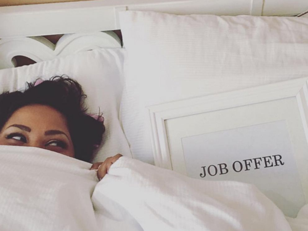 PHOTO: After a seven-month job search, Benita Abraham celebrated her offer with a hilarious photo shoot.