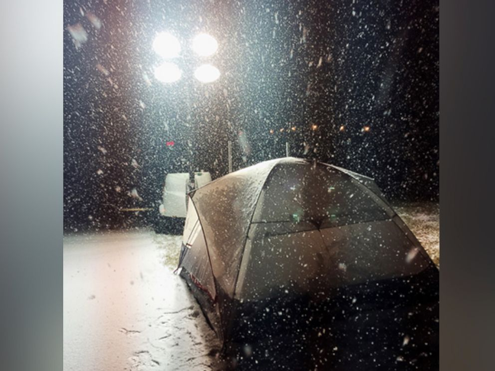 PHOTO: In this undated photo, Eric Jungels, 31, of Fargo, North Dakota has been sleeping outdoors to raise funds and awareness of homelessness.