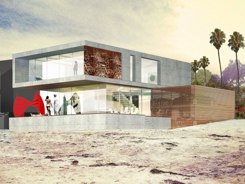 PHOTO: Meis Architects created architectural renderings of a Malibu, California, home sold by Eve Plumb to a developer for $3.9 million.