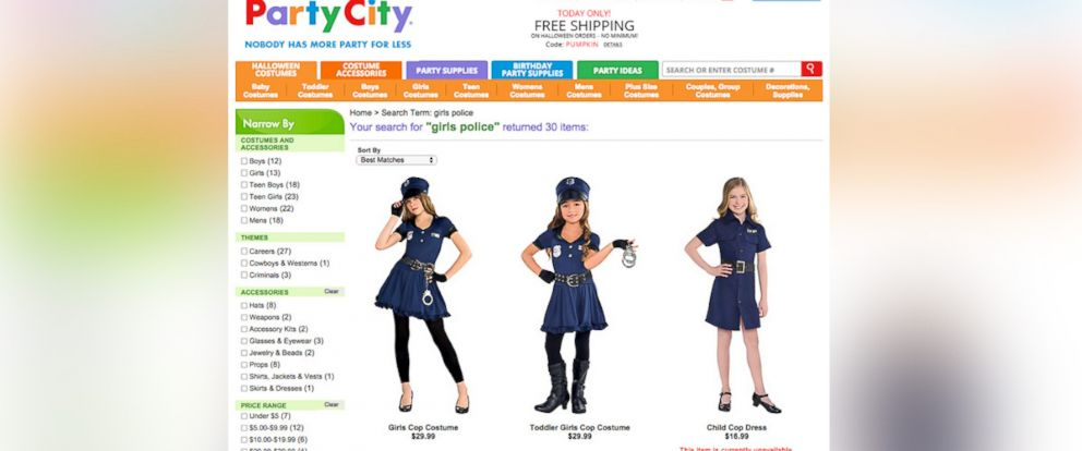 photo in an undated photo shows images of cop costumes for girls as halloween costumes party city