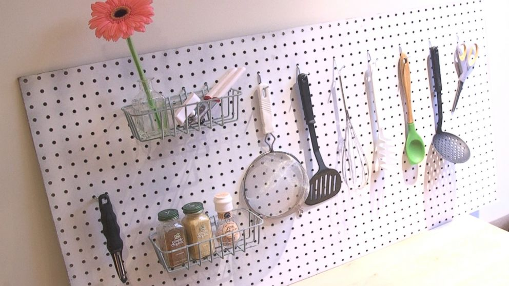 Diy Pegboard To Declutter Your Kitchen