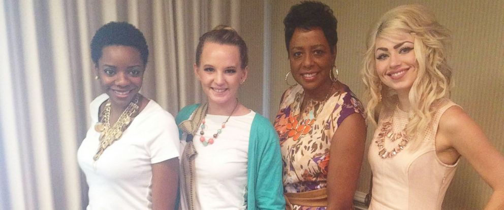 PHOTO: Young women model Reveal Your Dignitys junior fashion stylist kit with the kits designer, Constance Franklin, from Atlanta, Georgia.